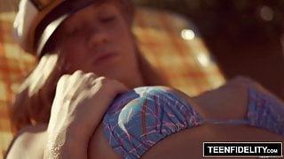 TEENFIDELITY – Bailey Brooke Creampied By Her Friend's stepdad